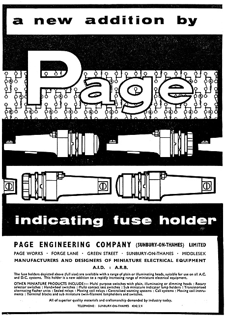 Page Electrical & Electronic Equipment For The Aircraft Industry