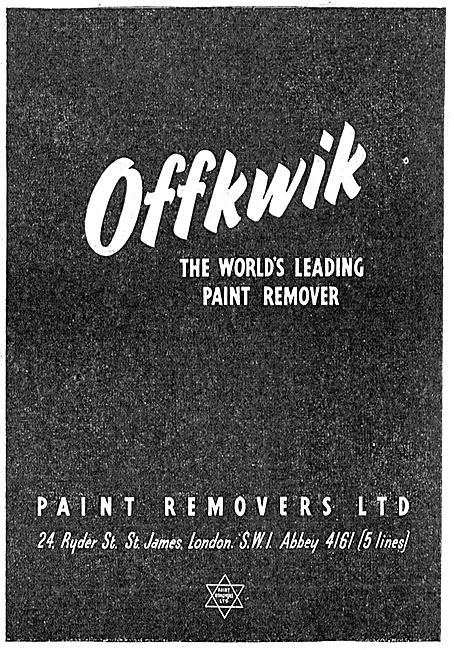 Paint Removers Ltd : Offkwik Paint Remover