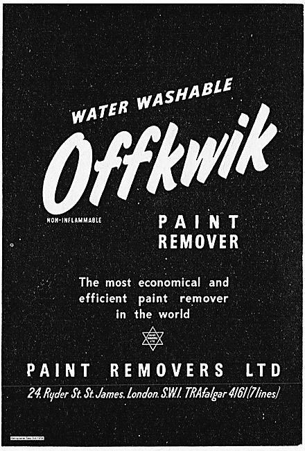 Paint Removers Ltd Water Washable Offkwik Paint Remover