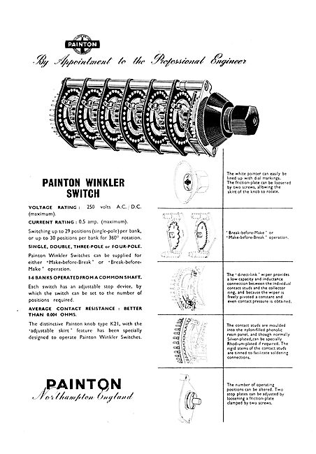 Painton El;ectrical Components & Accessories. Winkler Switch