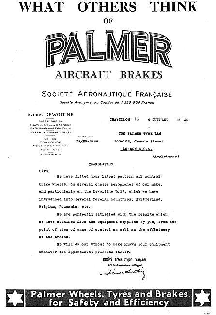 Palmer Aircraft Brakes