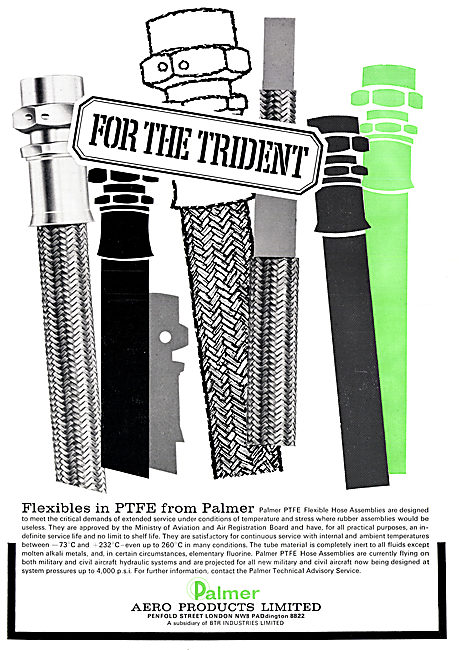 Palmer Aero Products. PTFE Flexible Pipes