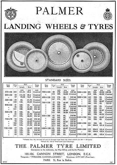 Palmer Cord Aircraft Wheels & Tyres