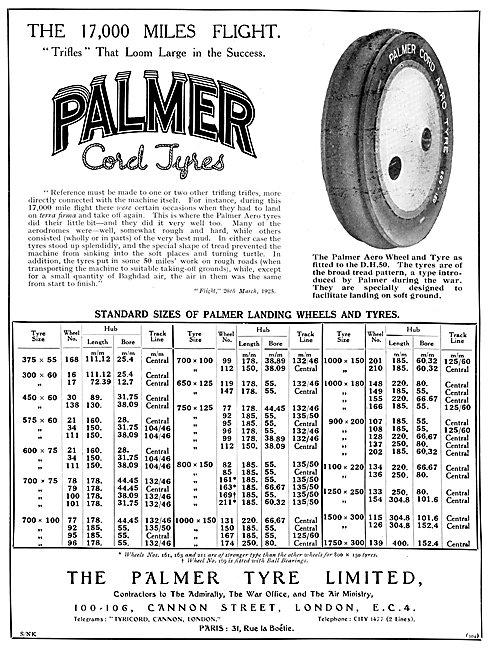 Palmer Cord Aircraft Tyres