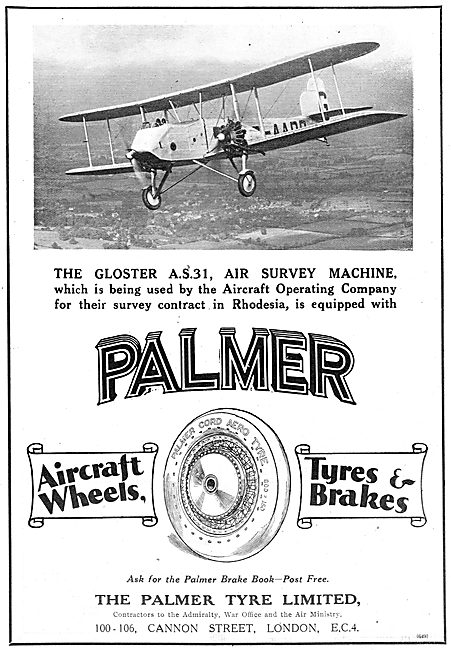 The Gloster AS31 Uses Palmer Wheels & Tyres