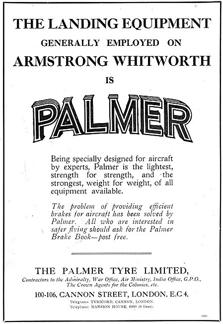 Palmer Wheels & Tyres Endorsed By Armstrong Whitworth