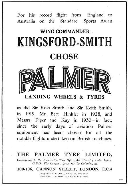 Kingsford Smith Chose Palmer Wheels & Tyres