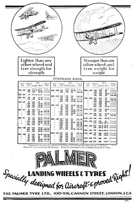 Palmer Aircraft Tyres, Wheels & Brakes