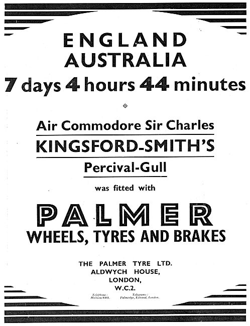 Palmer Tyres Kingsford Smith Percival Gull