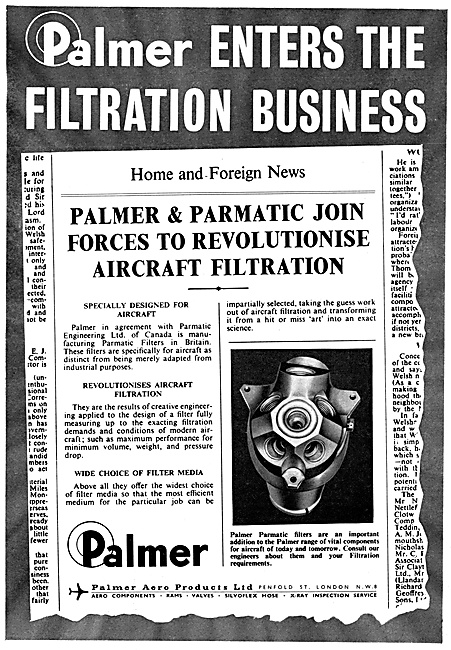 Palmer Pipes, Hoses,Escape Slides,Pneumatic Actuators, Filters