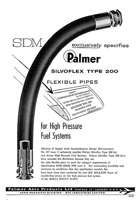 Palmer Aero Products Silvoflex Flexible Pipes