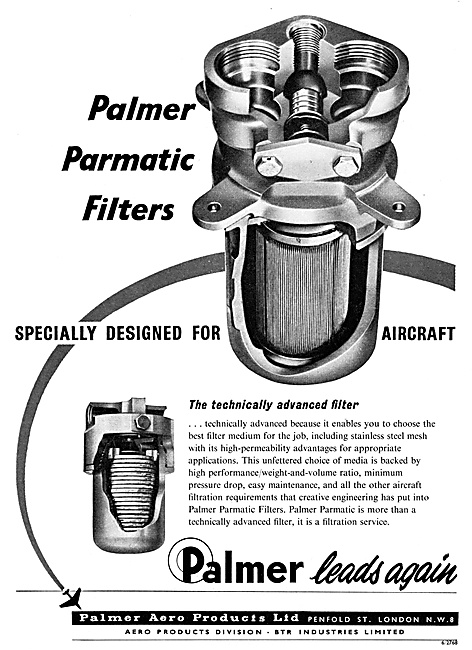 Palmer Aero Products Parmatic Filters