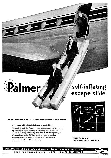 Palmer Aero Products Aircraft Escape Slides