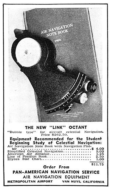 Pan American Navigation Service Link Octant 1942