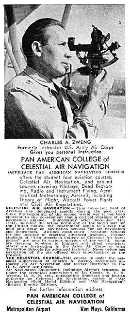 Pan American College Of Celestial Air Navigation. Van Nuys, Ca.