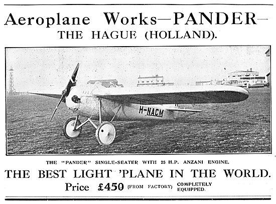 Pander Single Seat Light Plane. 25HP Anzani.