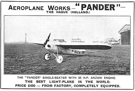 Pander Light Aeroplane. H-NACM