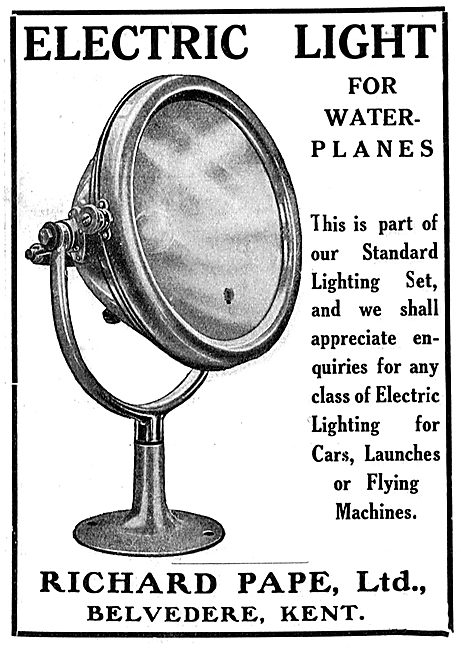 Pape Electric Lights For Waterplanes
