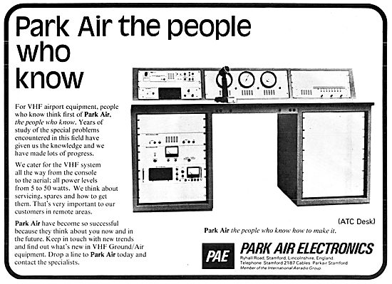 Park Air Electronics, Stamford. Airport VHF Systems