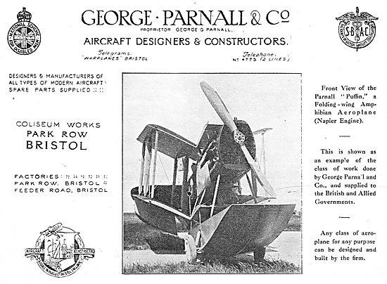 The Parnall Puffin Folding Wing Amphibian Aeroplane