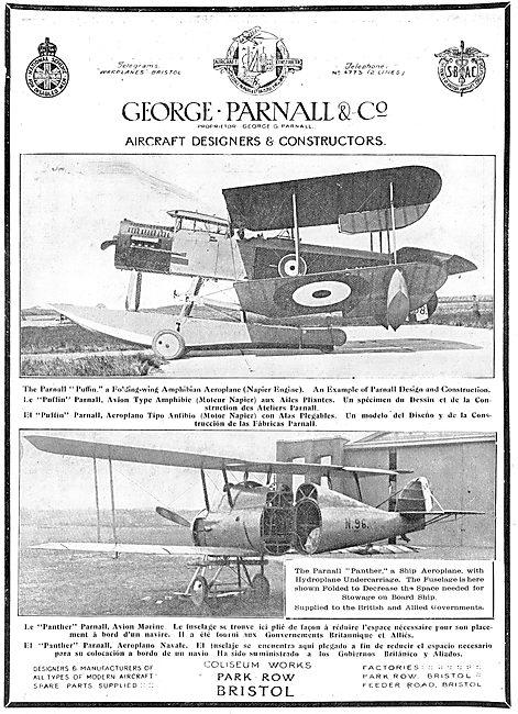 The Parnall (Napier) Puffin Folding Wing Amphibian Aeroplane