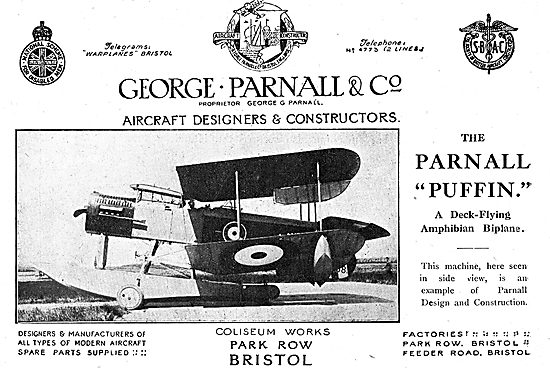 The Parnall Puffin Deck-Flying Amphibian Biplane