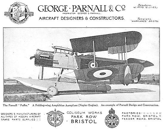 Parnall Puffin Folding Wing Amphibian Aeroplane.