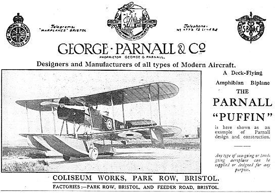 Parnall Puffin Deck-Flying Amphibian Biplane
