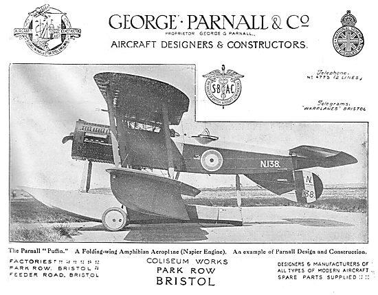 Parnall Puffin - Folding Wing Amphibian Aeroplane (Napier Engine)