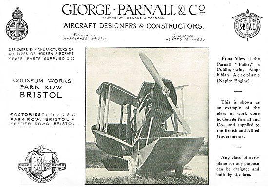 Parnall Puffin Folding Wing Amphibian Aircraft