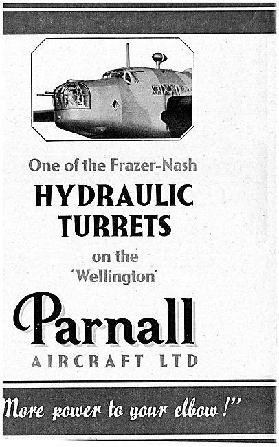 Parnall Frazer-Nash Hydraulic Gun Turrets. Wellington