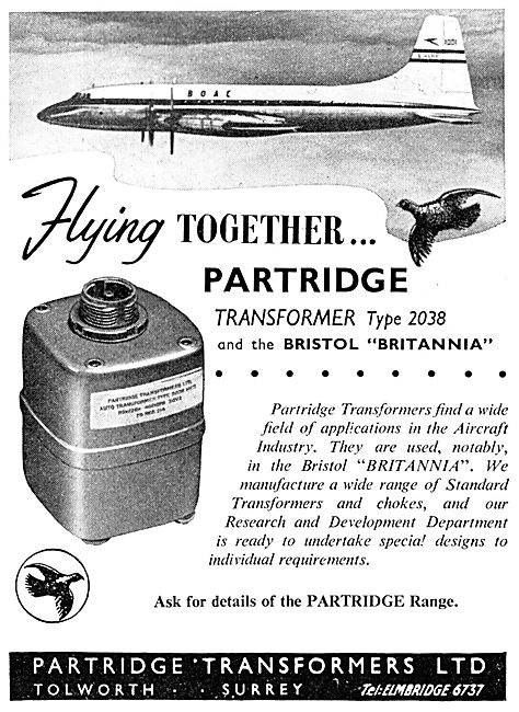 Partridge Transformers - Tolworth Surrey - Type 2038