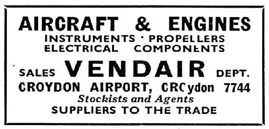 Vendair. Croydon. - Aircraft & Engine Spares