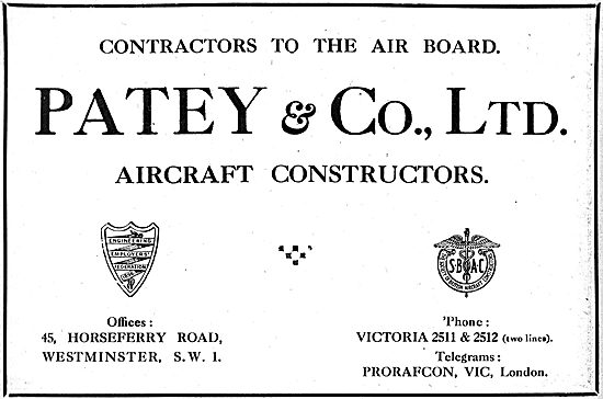 Patey & Co - Aircraft Constructors