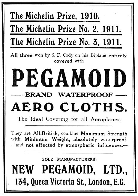 Pegamoid Aero Cloths.