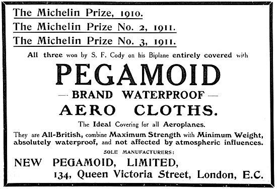 Pegamoid Aerocloths - Aeroplane Fabric