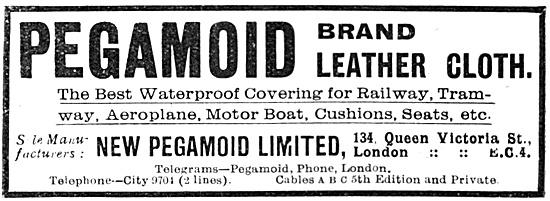 Pegamoid Brand Aircraft Leather Cloth