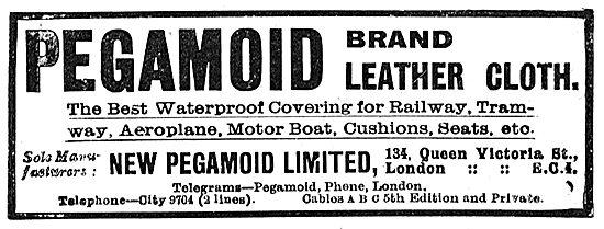 Pegamoid Brand Aeroplane Leather Cloths