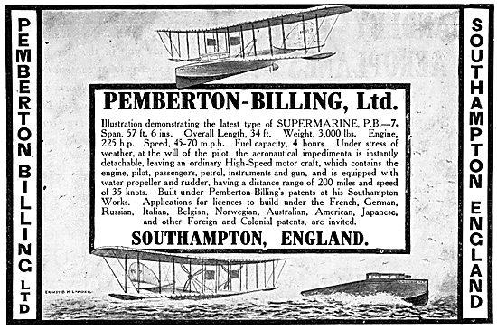 Pemberton-Billing - Supermarine PB7