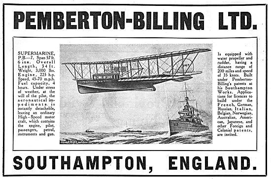 Pemberton-Billing Supermarine PB-7 Flying Boat