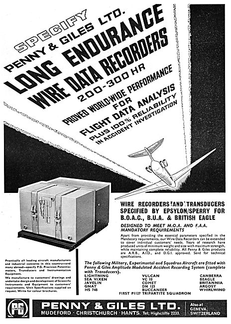 Penny & Giles Electronic Components - Flight Data Recorders