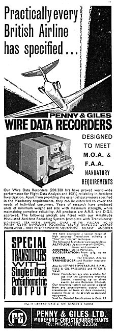 Penny & Giles Aircraft Wire Data Recorders - FDR