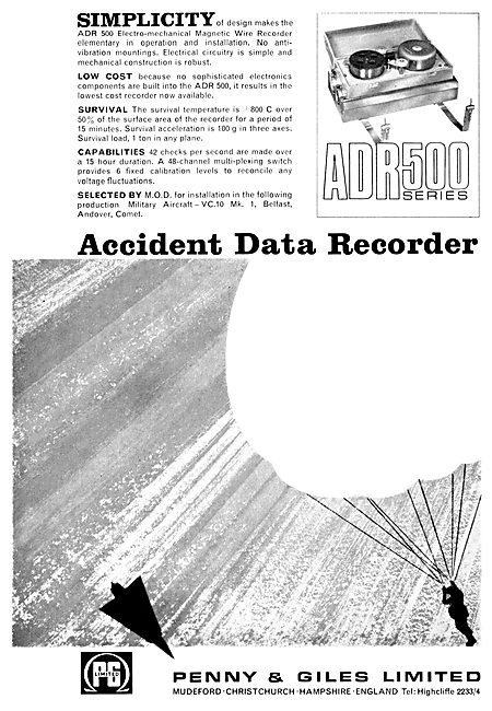 Penny & Giles Aircraft Wire Data Recorders - FDR ADR 500 Series