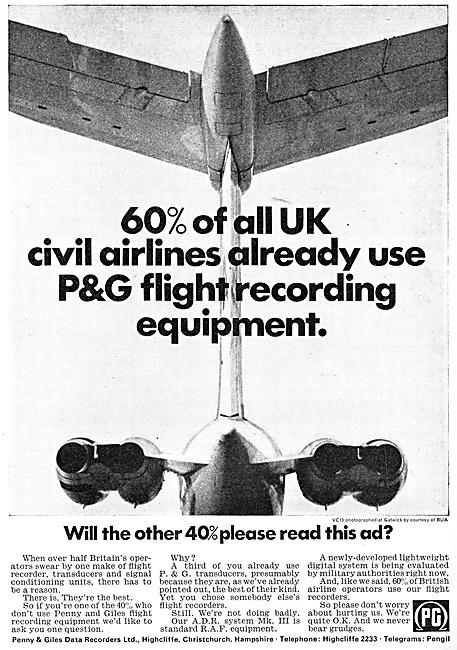 Penny & Giles Flight Data Recorders 1967