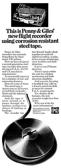 Penny & Giles Flight Data Recorders