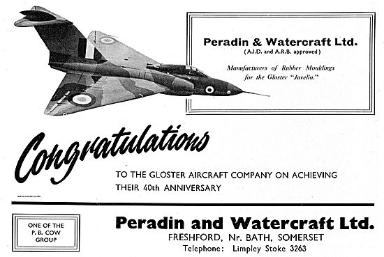 Peradin & Watercraft Rubber Moulding For The Gloster Javelin