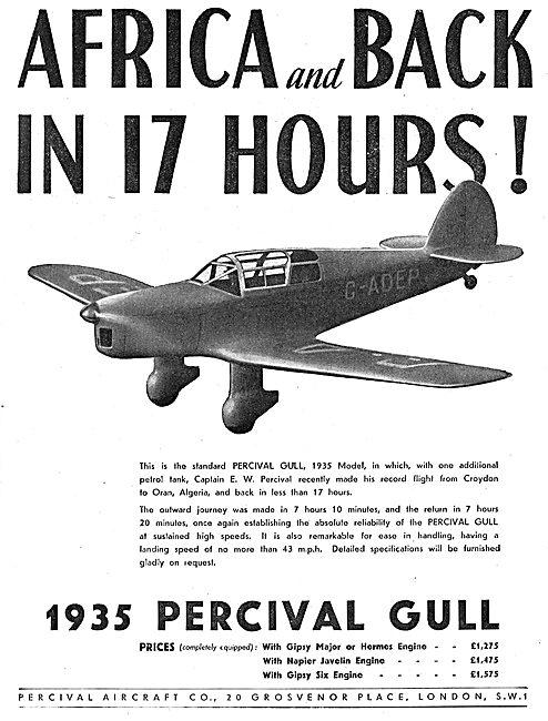 Percival Gull - Africa Return In 17 Hrs: G-ADEP