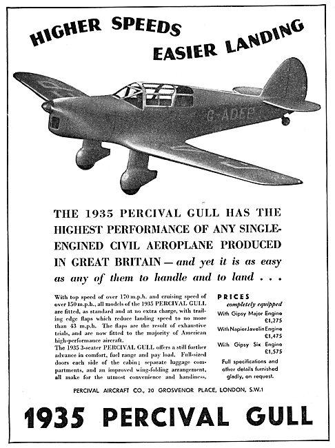 Percival Gull 1935