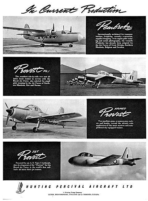 Hunting Percival Aircraft 1954