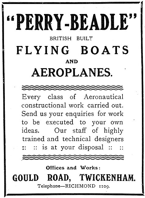 Perry-Beadle British Built Flying Boats & Aeroplanes